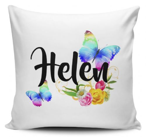 Personalised Beautiful Butterflies & Flowers Novelty Gift Cushion Cover